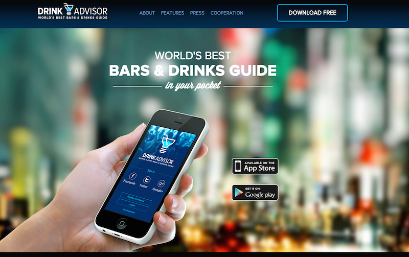 DrinkAdvisor Screenshot